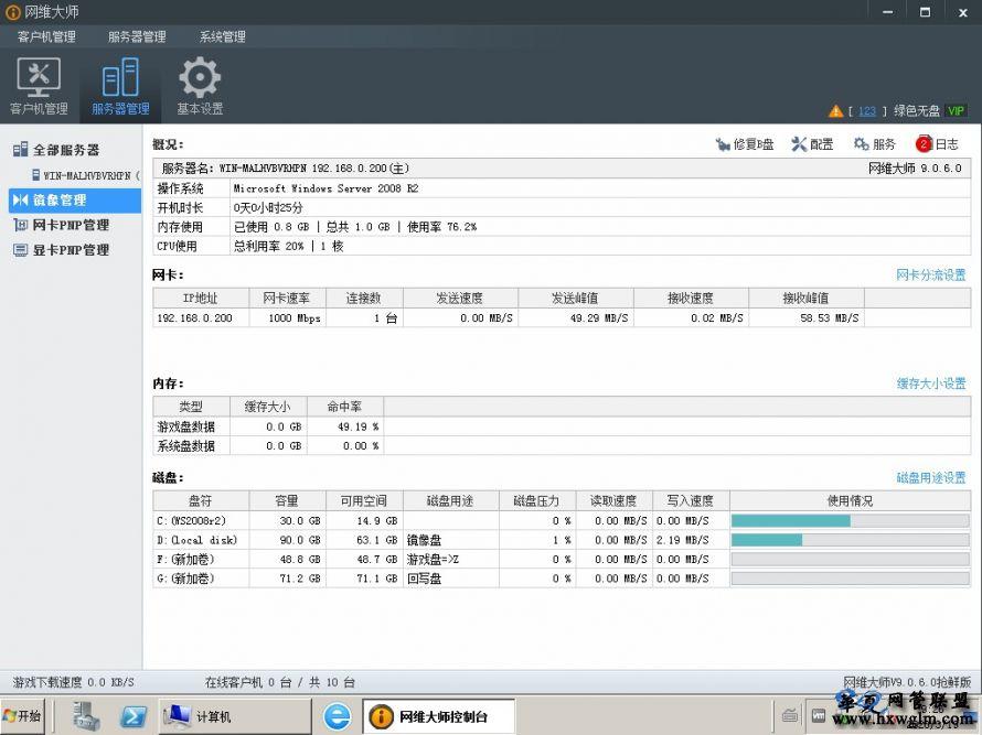 网维大师9060精简版去B盘去三层更新去广告支持win10网维无盘