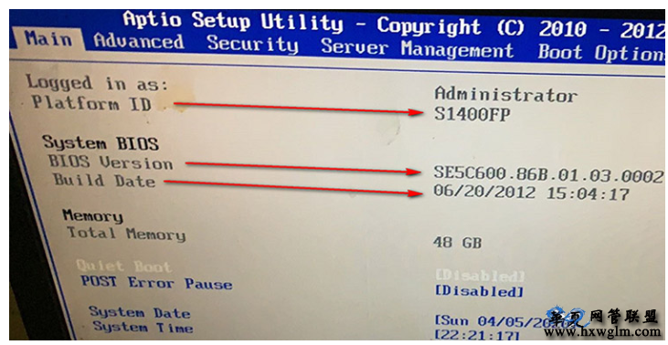 Intel S1200/1400FP/1400FP2/1400FP4 刷BIOS 更新BIOS 详细图文教程