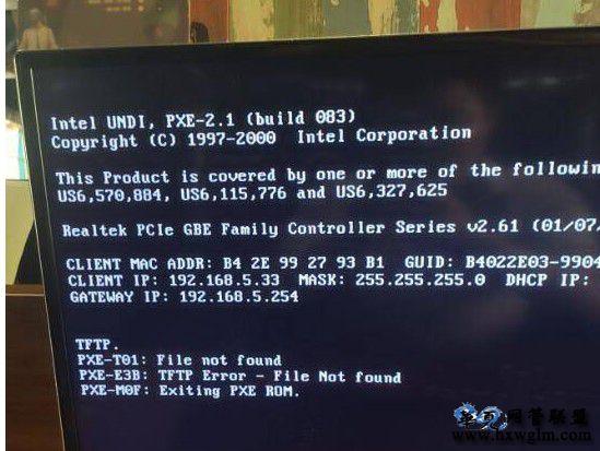 易乐游无盘启动技嘉主板uefi模式不能正常进系统,卡TFTP PXe-T01