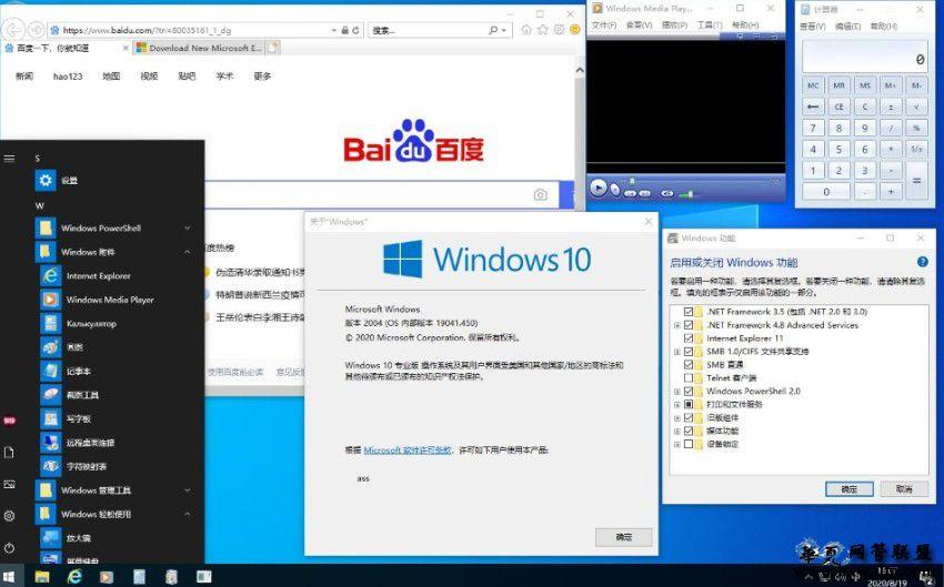 【lopatkin】Microsoft Windows 10 Pro 19041.450 20H1 Release x86-x64 ZH_CN DREY