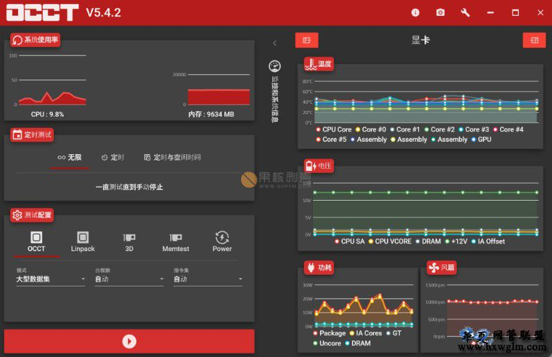 OCCT(系统检测工具,电源检测工具)v6.2.2 正式版/v7.2.3  单文件版
