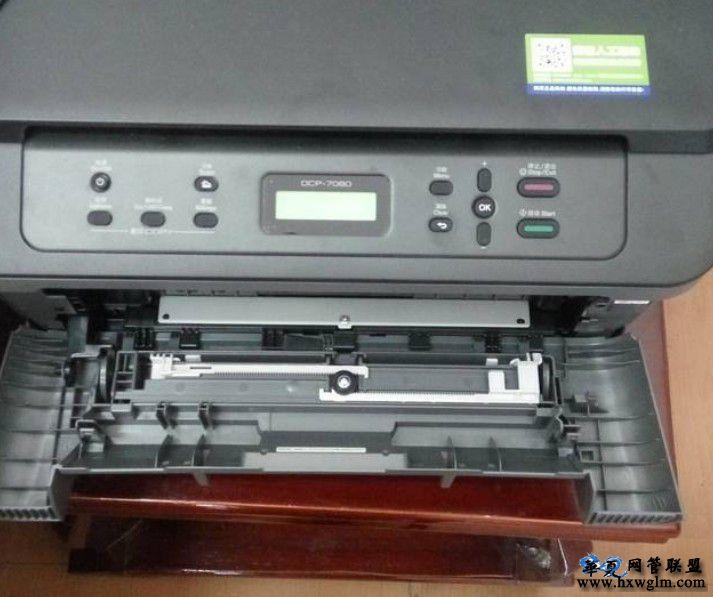 兄弟7080打印机墨盒提示更换墨粉盒清零方法