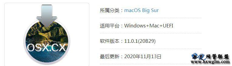 macOS Big Sur 11.0.1 (20B29) 正式版 自带Clover v5.0 r5126和OC引导 v0.6.3黑苹果原版镜像