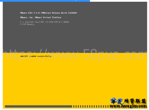 VMware ESXi启动卡在 vmkibft loaded successfully