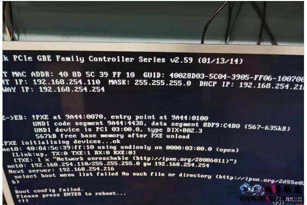 固定一台机器启动不了(显示器接口问题导致)boot config failed