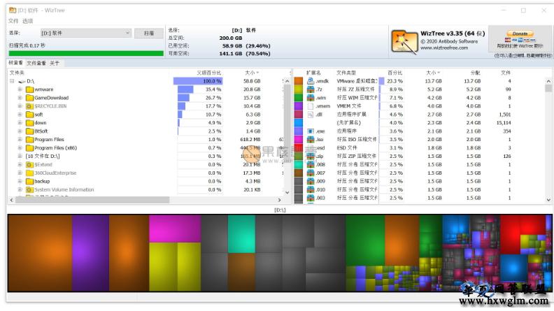 wiztree(磁盘分析工具) v3.36 便携版